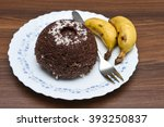 Small photo of Ragi balls made from finger millet or ragi flour. Steamed ragi puttu with yellow banana and coconut Kerala India. India/Indian breakfast