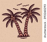 traditional tattoo flash palms  ... | Shutterstock .eps vector #393260293