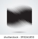 dots surfing wave. abstract... | Shutterstock .eps vector #393261853
