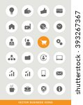 set of 25 universal seo and... | Shutterstock .eps vector #393267367