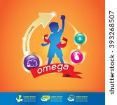 kids omega calcium and vitamin  ... | Shutterstock .eps vector #393268507