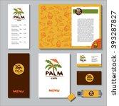 palm. vector logo  sign. a set... | Shutterstock .eps vector #393287827