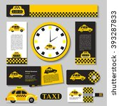 taxi. set of corporate identity ... | Shutterstock .eps vector #393287833