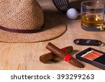 siesta   cigar  straw hat...   Shutterstock . vector #393299263