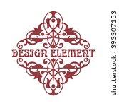 renaissance vintage frame for... | Shutterstock .eps vector #393307153