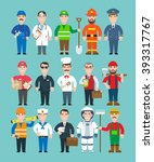 mans professions set.doctor... | Shutterstock .eps vector #393317767