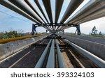 outdoor pipelines in the... | Shutterstock . vector #393324103