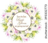 vintage delicate invitation... | Shutterstock .eps vector #393332773