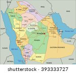 saudi arabia   highly detailed... | Shutterstock .eps vector #393333727