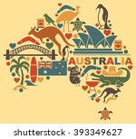 traditional symbols of... | Shutterstock .eps vector #393349627