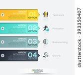 modern paper infographics... | Shutterstock .eps vector #393350407