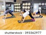 group exercising body... | Shutterstock . vector #393362977