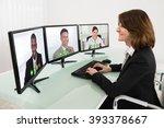 businesswoman video... | Shutterstock . vector #393378667