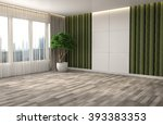 interior with large window. 3d... | Shutterstock . vector #393383353