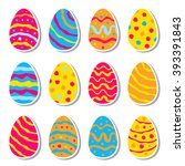 easter egg creative icon  logo  ... | Shutterstock .eps vector #393391843