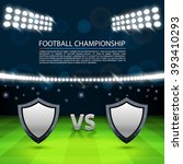 football championship cover ... | Shutterstock .eps vector #393410293