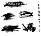 vector set of grunge brush... | Shutterstock .eps vector #393412273