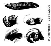 vector set of grunge brush...   Shutterstock .eps vector #393412303