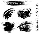 vector set of grunge brush... | Shutterstock .eps vector #393412393
