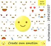 emoticon creator. emoji. avatar.... | Shutterstock .eps vector #393415537