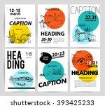 hand drawn traveling landscape...   Shutterstock .eps vector #393425233