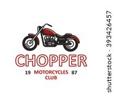 set of motorcycles shop  club ... | Shutterstock .eps vector #393426457