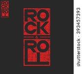 rock and roll concert musical... | Shutterstock .eps vector #393457393