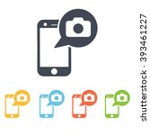 photo on the phone icon | Shutterstock .eps vector #393461227