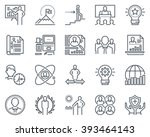 business icon set suitable for... | Shutterstock .eps vector #393464143