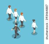 isometric businessman walking... | Shutterstock .eps vector #393464887