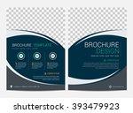 brochure template flyer design...   Shutterstock .eps vector #393479923