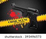 gun and crime | Shutterstock .eps vector #393496573