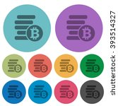 color bitcoins flat icon set on ...