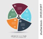vector infographic template.... | Shutterstock .eps vector #393519397