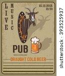 retro beer vector poster for... | Shutterstock .eps vector #393525937