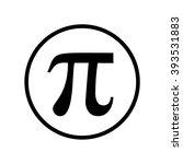 pi symbol icon in circle ....