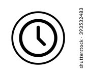 clock icon in circle . vector... | Shutterstock .eps vector #393532483