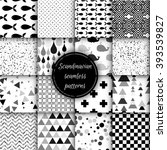 set of black and white... | Shutterstock .eps vector #393539827