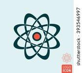 atom icon. atom symbol. nuclear ...