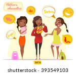 children's characters. black... | Shutterstock .eps vector #393549103