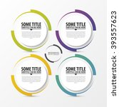 circle infographic. template... | Shutterstock .eps vector #393557623