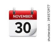 november  30. vector flat daily ...