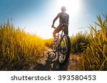young athlete standing with... | Shutterstock . vector #393580453
