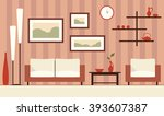 vector brown interior... | Shutterstock .eps vector #393607387