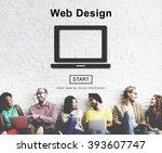 web design homepage internet... | Shutterstock . vector #393607747