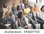 business team seminar listening ... | Shutterstock . vector #393607753