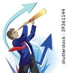 young businessman looking...   Shutterstock .eps vector #39361144