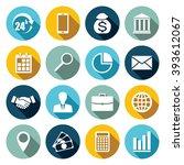 vector set of 16 flat business... | Shutterstock .eps vector #393612067
