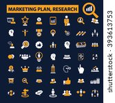 marketing plan  research icons  | Shutterstock .eps vector #393613753