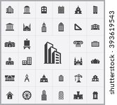 simple architecture icons set....